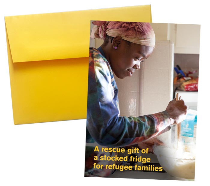 A Stocked Fridge for Refugee Families
