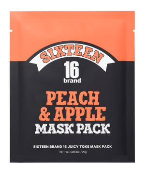 16BRAND Peach & Apple Juicy Toks Mask Pack