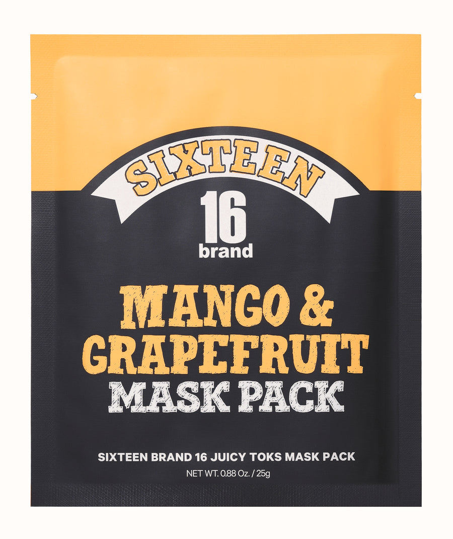 16BRAND Mango & Grapefruit Juicy Toks Mask Pack