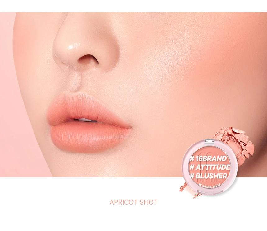16BRAND 16 Cheek Shot- ApricotShot