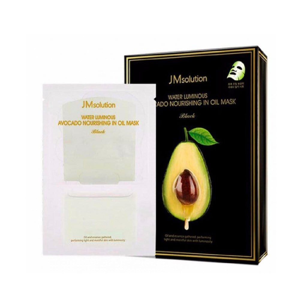 JMSOLUTION Water Luminous Avocado Nourishing In Oil Mask (Black) - lamisebeauty