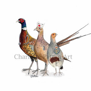 NHS Game Birds Greetings Card