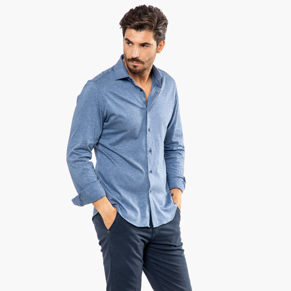 Camicia-Casual-Sportiva-Viben-Collo-Francese-Extra-Slim-Fit-Uomo