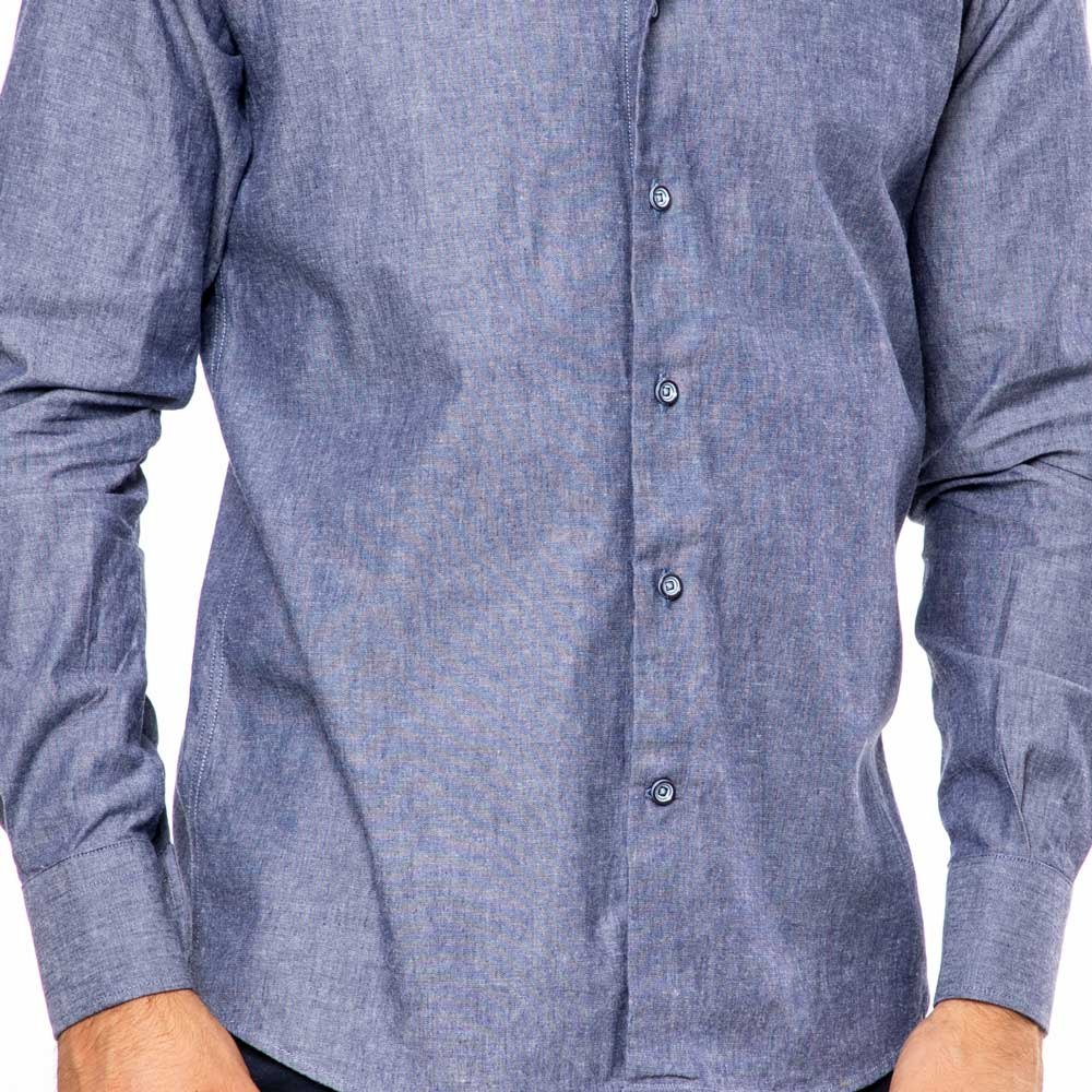 Camicia-Monti-Blu-Notte-Oxford-Slim-Fit