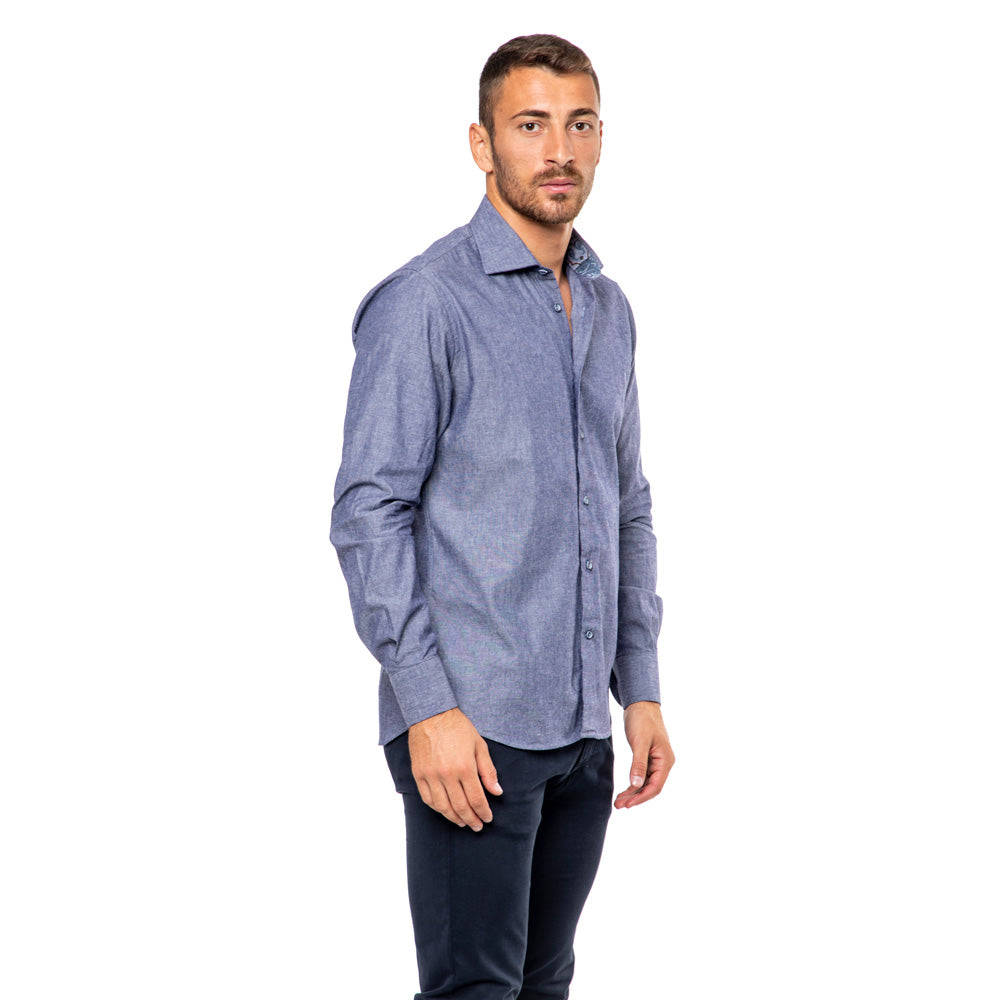 Camicia-Slim-Fit-Monti-Cotone-Oxford-Collo-Francese-Viben