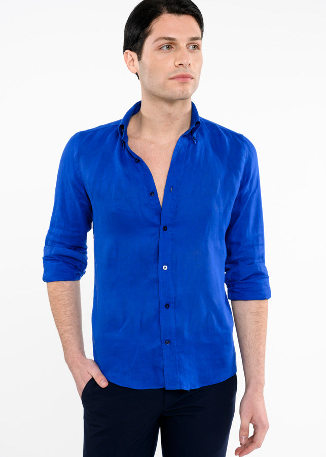 Camicia-Uomo-Collo-Button-Down