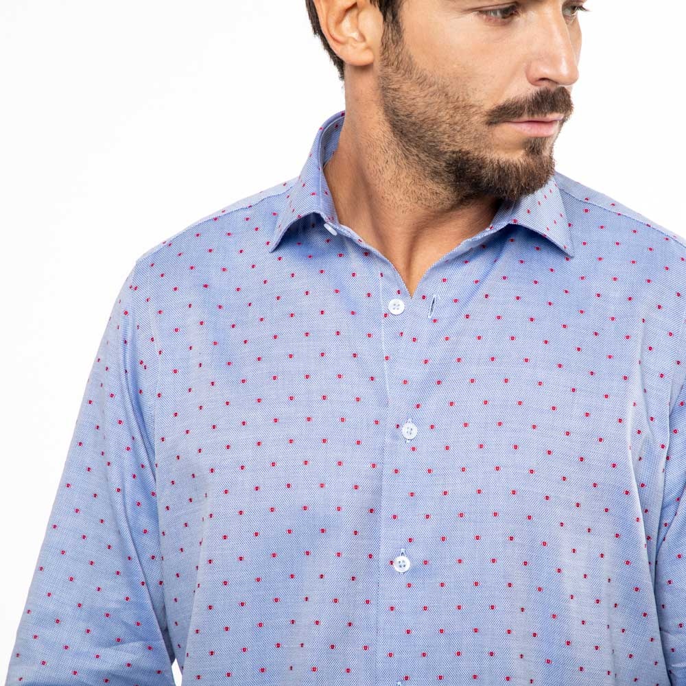 Camicia-Uomo-Viben-Giro-Inglese-Collo-Francese-Viben-Casual-Regular-Fit