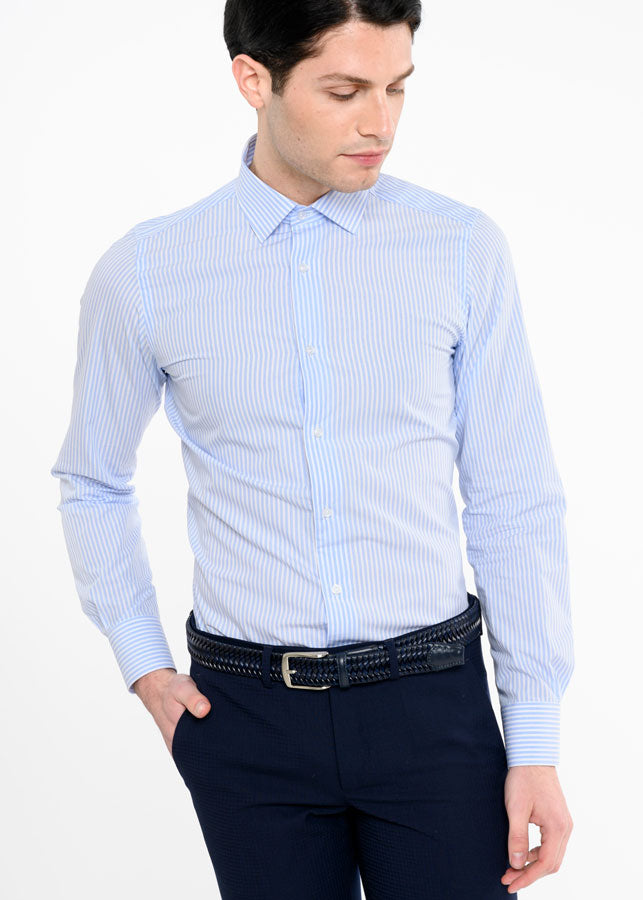 Camicia-da-Uomo-Elegante-a-Righe-Regular-Fit