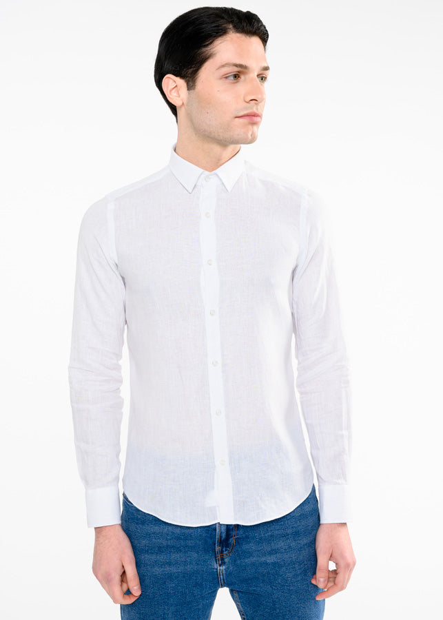 huge discount 6547b be392 Camicia lino slim fit