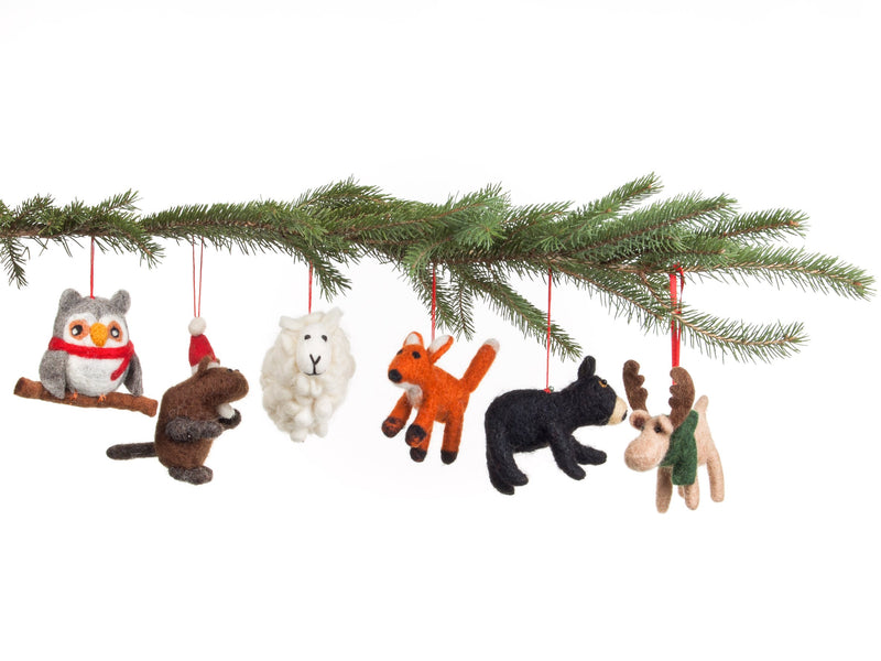 Christmas felt ornaments  by Lost Horizons