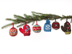 Christmas knit ornaments by Lost Horizons