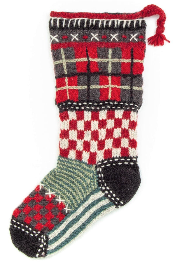 Tartan Christmas stocking by Lost Horizons