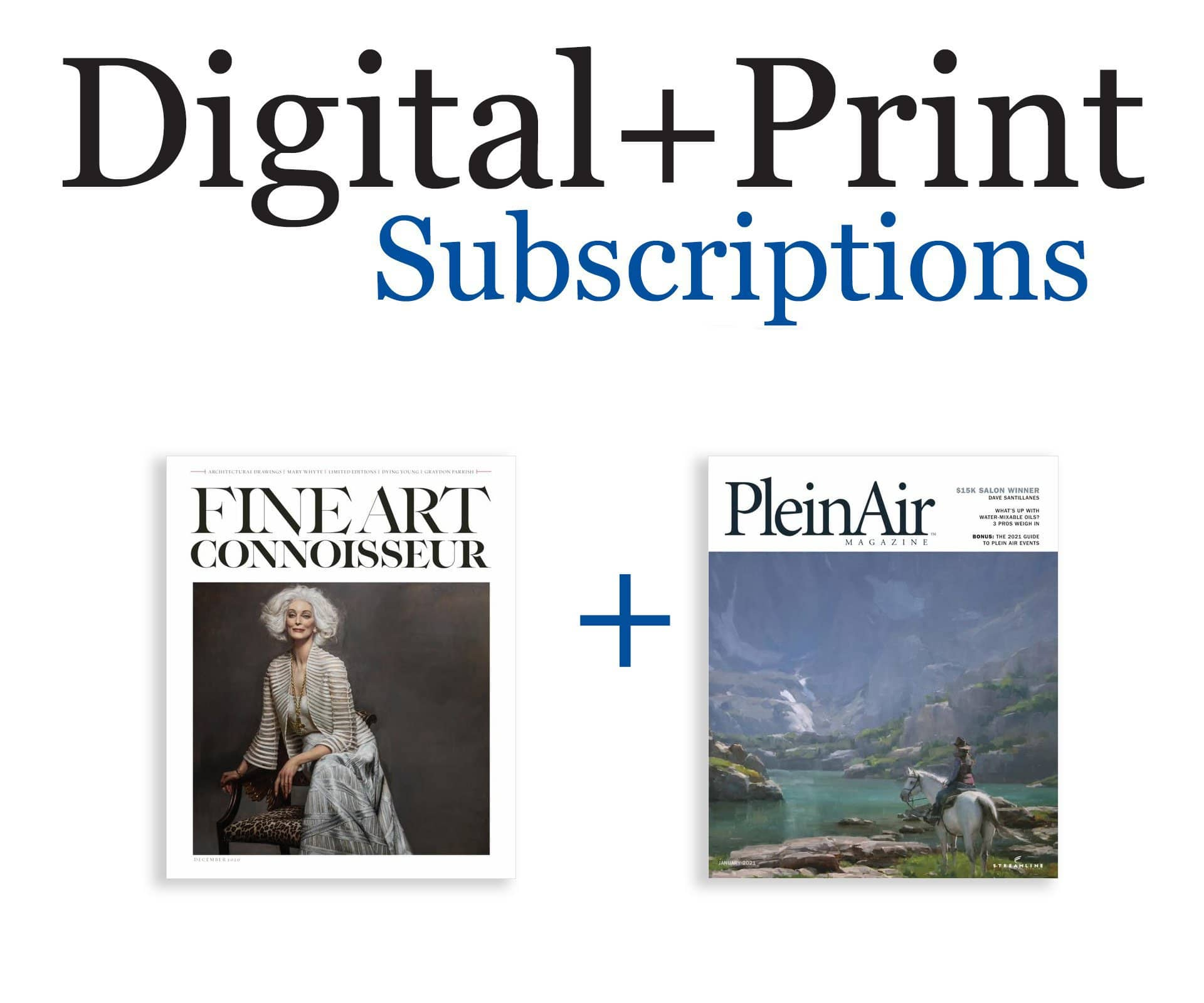 Fine Art Connoisseur + PleinAir Magazine Subscription
