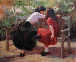Sylvia Trybek: Figures on Park Bench