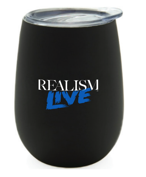 Black Dual Wall Stemless Tumbler with Lid