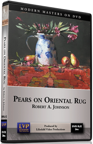 Robert A. Johnson: Pears on Oriental Rug