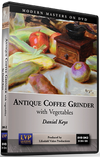 Daniel Keys: Antique Coffee Grinder and Vegetables