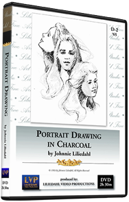 Johnnie Liliedahl: Portrait Drawing in Charcoal