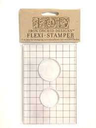 IOD Flexi Stamper for Knob Toppers Stamp