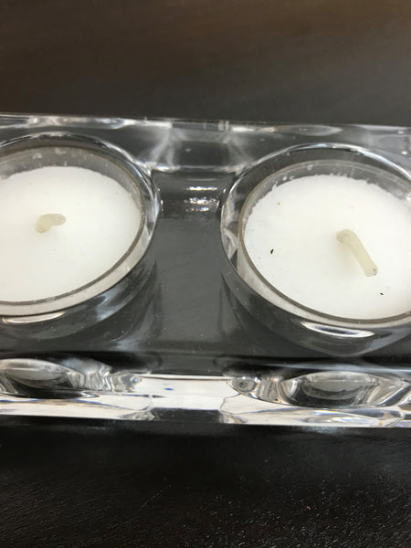 4 Votive Glass Candle Holder