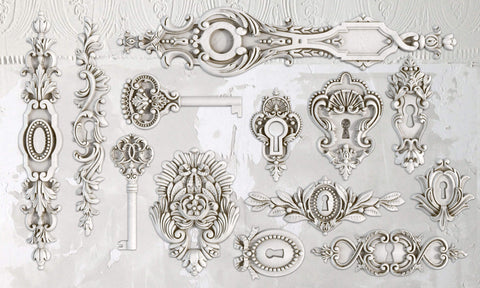 Lock & Key 6x10 Decor Mould
