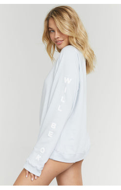 Everything Will Be Ok Oversized Sweatshirt