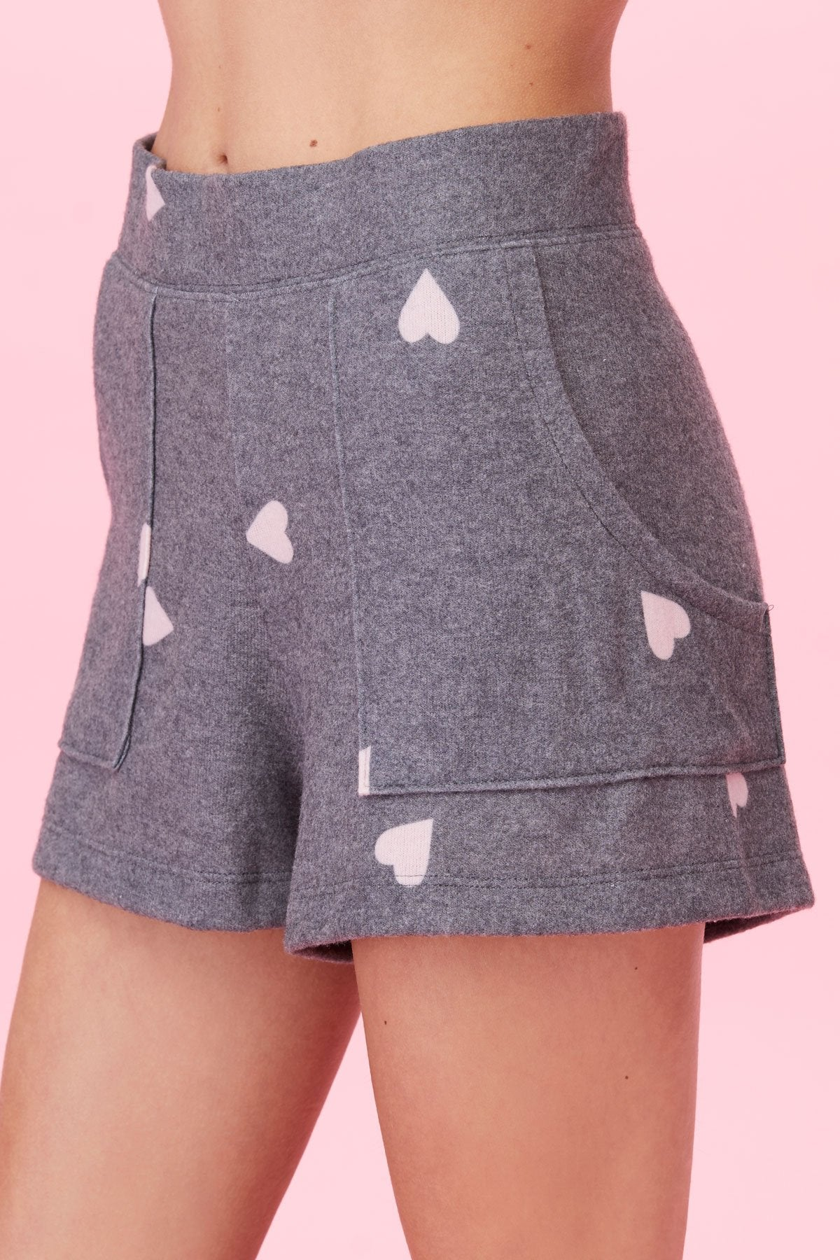 Brushed Hearts Shorts