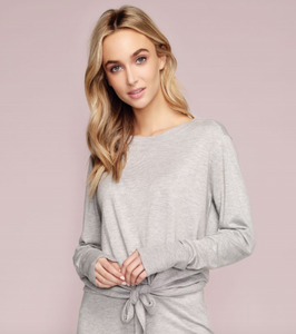 Cashmere Blend Tie Up Long Sleeve