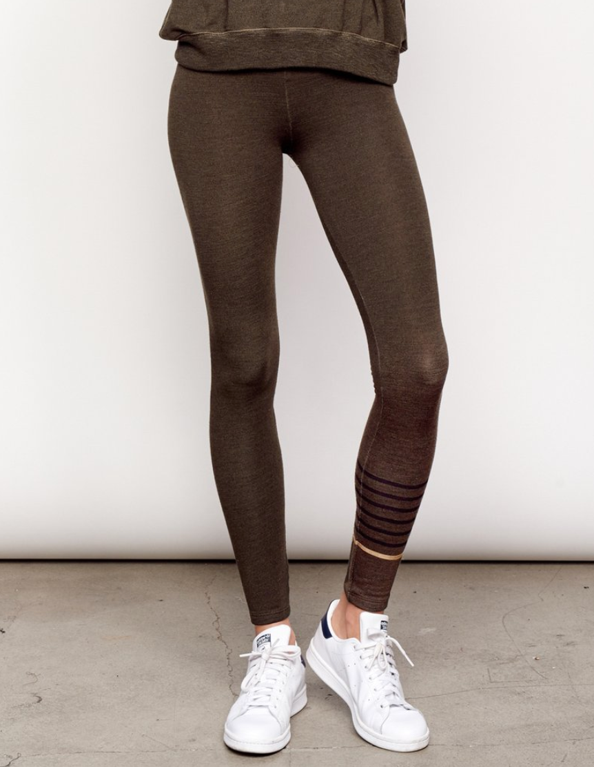 Stripes Yoga Pant - Pine