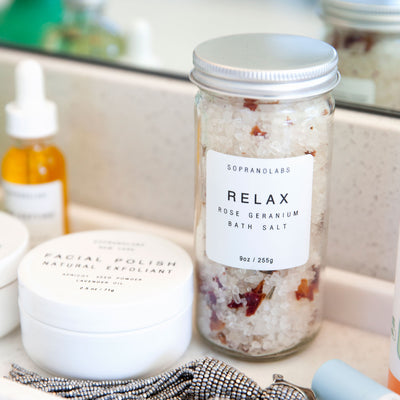 Relax Rose Geranium Bath Salt