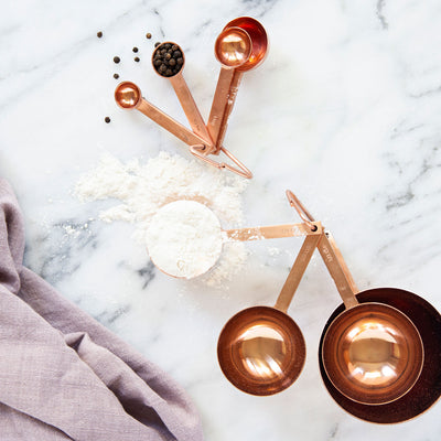Copper Measuring Cups Set