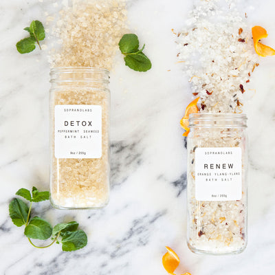 Detox Peppermint Seaweed Bath Salt