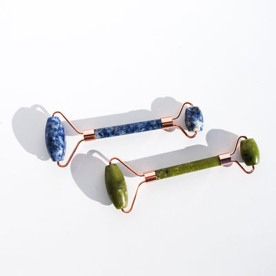 Spotted Jasper Blue Facial Roller
