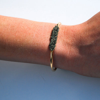 Gold Pyrite Dust Bracelet