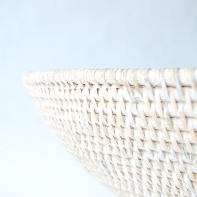 Large Rattan Decorative Bowl