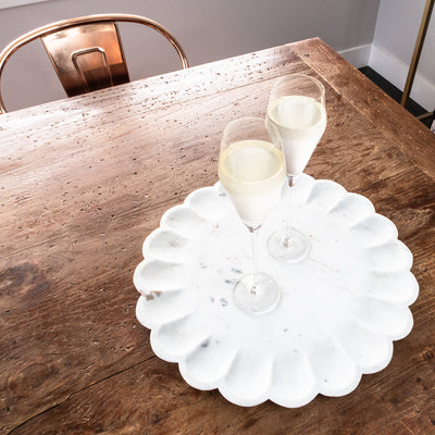 Marble Round Petal Tray