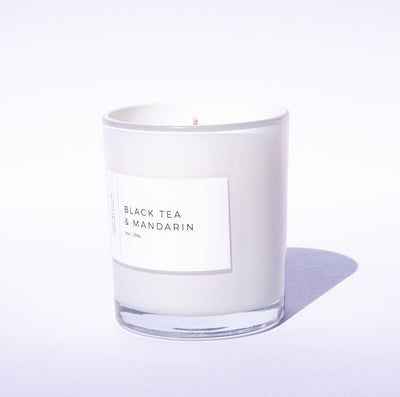 Black Tea & Mandarin White Tumbler Candle