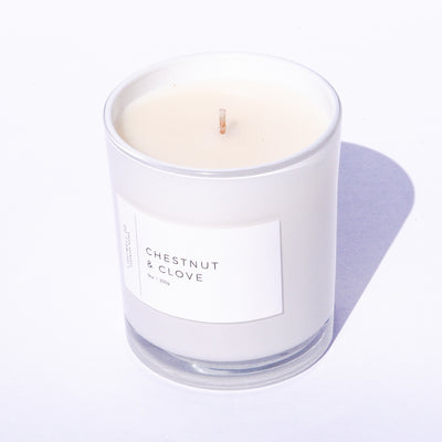 Chestnut & Clove White Tumbler Candle
