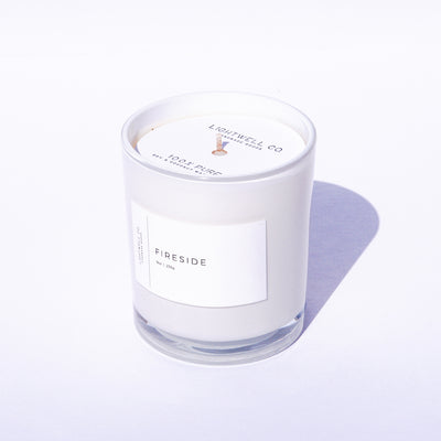 Fireside White Tumbler Candle