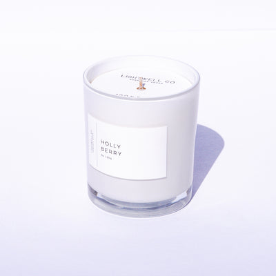 Holly Berry White Tumbler Candle
