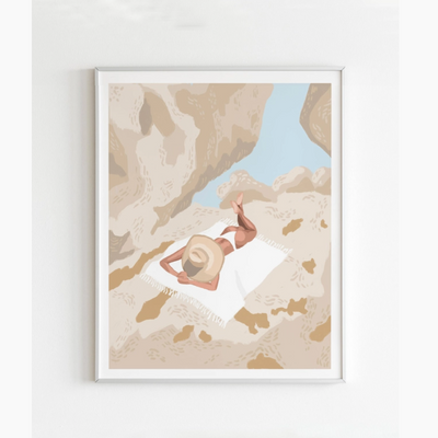 Neutral Summer Beach Art Print