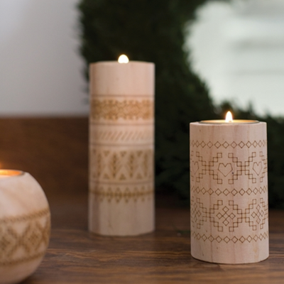 Short Sweater Candleholder