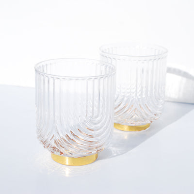 Gatsby Glass Tumblers - Set of 2