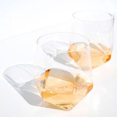 Faceted Crystal Cocktail Glasses