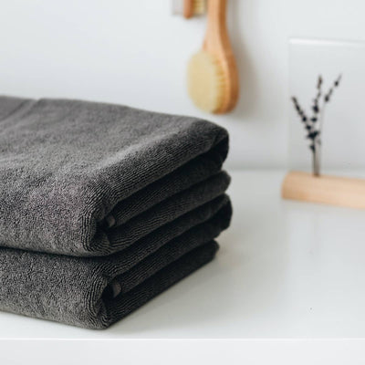 Turkish Cotton Towel Set - Charcoal