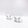 Sleek Stemless Crystal Martini Glasses - Set of 2