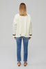 Yaitte DRIFT White Cable Knit Jumper