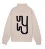 White High Neck Monogram Jumper Yaitte