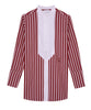 FERRETTI - Red and White Striped Bib Shirt
