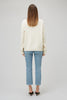 White High Neck Jumper Monogram Back Yaitte